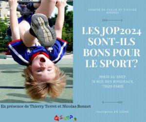Les JOP2024 seront-ils bons pour le sport ? @ Paris | Paris | Île-de-France | France