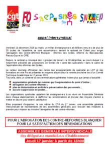 AG intersyndicale @ Créteil