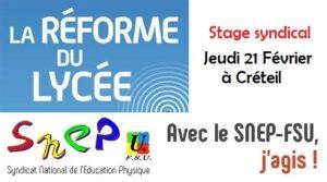 Stage Réformes Lycées/Bac et programmes EPS @ Créteil