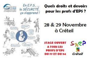 Stage 94/77 : Action Juridique @ Créteil