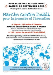 Marche contre l'oubli, pour l'éducation et la jeunesse @ Pantin