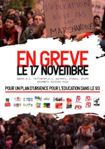 Grève éducation 93