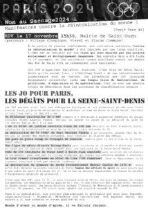 Manif héritage JOP 2024 @ Saint-Ouen