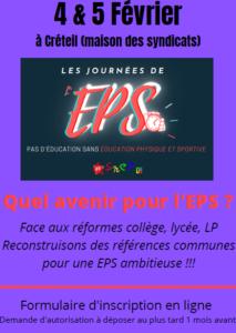 Journées de l'EPS @ Créteil